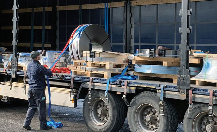 Stainless Steel Coil on lorry